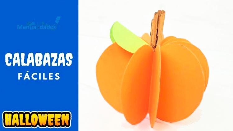 como hacer calabazas para halloween