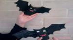 como hacer un murcielago de papel