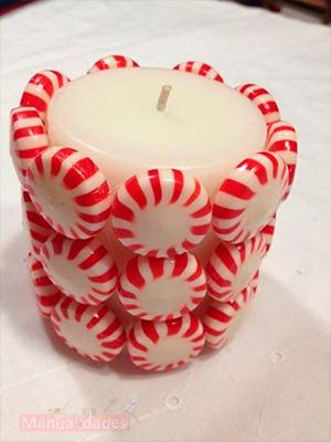 vela de caramelo para navidad