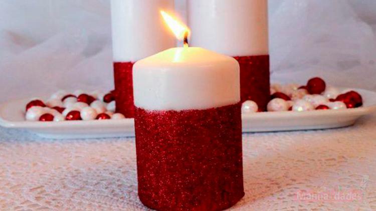 manualidad con velas para navidad