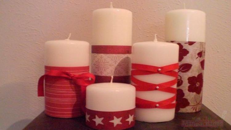 como hacer velas navideñas