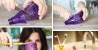 manualidades con botellas recicladas