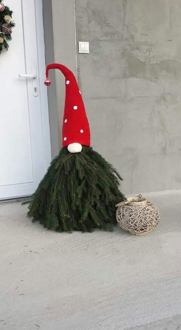 manualidades navideñas Pino decorativo