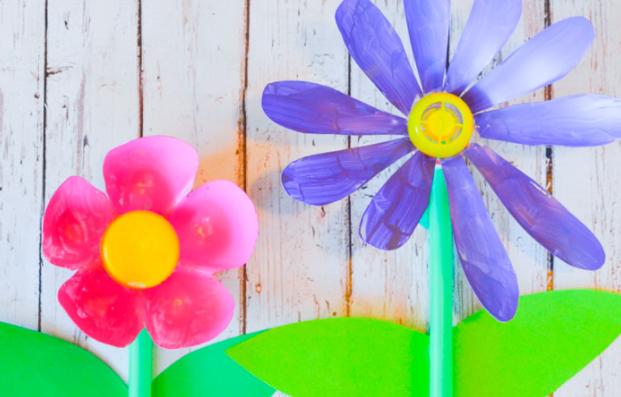 flores decorativa manualidades