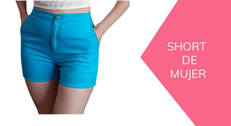 como hacer short con cremallera de mujer